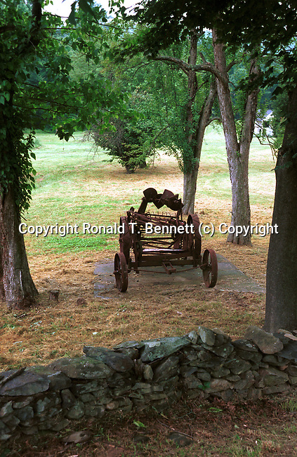 Combine harvester to harvest grain crops, Colonial Williamsburg Virginia, Fine Art Photography by Ron Bennett, Fine Art, Fine Art photography, Art Photography, Copyright RonBennettPhotography.com ©