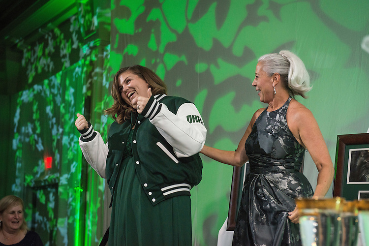 Jan-Marie Bales is selected as the 2016 Ohio University Cheermeister during the Alumni Awards Gala held at Ohio University's Baker Center Ballroom on Friday, October 07, 2016.