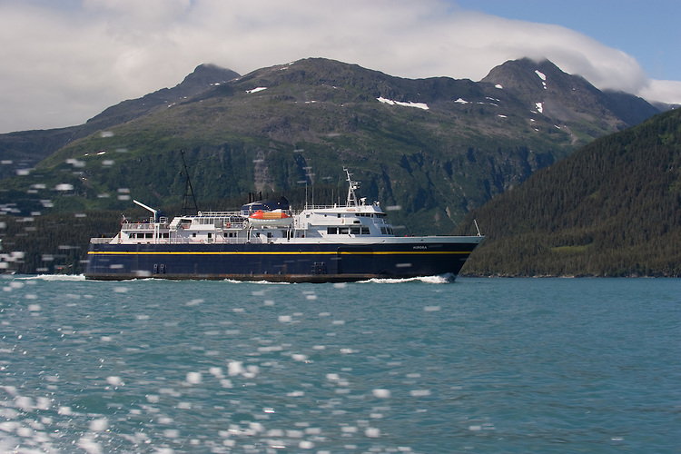 Alaska, Prince William Sound, Whittier, USA, MV Aurora, Alaska State Ferry System. Passage Canal,
