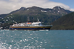 Alaska, Prince William Sound, Whittier, USA, MV Aurora, Alaska State Ferry System. Passage Canal,