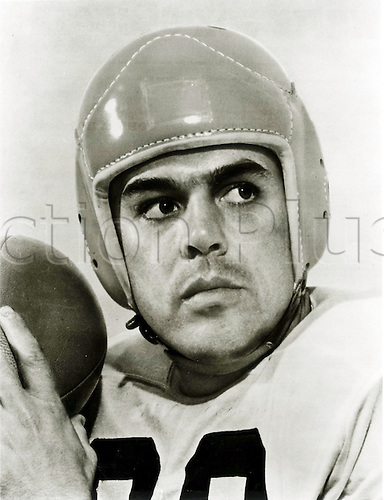 Otto Graham, the Hall of Fame American Football quarterback who led the Cleveland Browns