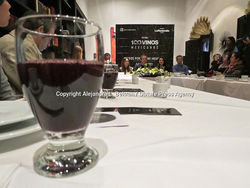 Querétaro, Qro. 25 de febrero 2016. El próximo 5 y 6 de marzo se celebrará el Festival 100 vinos mexicanos, el cual tendrá el objetivo de dar a conocer la producción nacional en este rubro. Foto: Alejandra L. Beltrán / Obture Press Agency