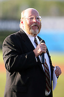 June 18th 2008:  Batavia Muckdogs General Manager Dave Wellenzohn during opening ceremonies for the Batavia Muckdogs at Dwyer Stadium in Batavia, NY.  Photo by:  Mike Janes/Four Seam Images