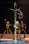 26.02.2016 Cirque Du Soleil performing AMALUNA at The Royal Albert Hall London UK  Hoop Diving