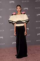 LOS ANGELES, CA - NOVEMBER 04: Zoe Saldana at the 2017 LACMA Art + Film Gala Honoring Mark Bradford And George Lucas at LACMA on November 4, 2017 in Los Angeles, California. <br /> CAP/MPI/DE<br /> &copy;DE/MPI/Capital Pictures