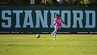 STANFORD, CA - OCTOBER 12: Kennedy Wesley #15 of the Stanford Cardinal during a game between the Stanford Cardinal and Washington Huskies women's soccer teams at Cagan Stadium on October 6, 2019 in Stanford, California. during a game between University of Washington and Stanford Soccer W at Laird Q. Cagan Stadium on October 12, 2019 in Stanford, California.