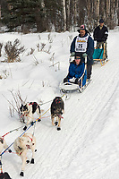 Mike Williams w/Iditarider on Trail 2005 Iditarod Ceremonial Start near Campbell Airstrip Alaska SC