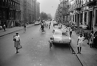 New York City, Harlem, July 1966. Street scene.