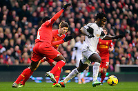 Sunday, 23 February 2014<br /> Pictured: Swansea City's Wilfried Bony<br /> Re: Barclay's Premier League, Liverpool FC v Swansea City FC v at Anfield Stadium, Liverpool Merseyside, UK.