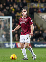 John-Joe O'Toole of Northampton Town during the Sky Bet League 2 match between Oxford United and Northampton Town at the Kassam Stadium, Oxford, England on 16 February 2016. Photo by Andy Rowland.