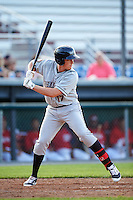 Mahoning Valley Scrappers designated hitter Nathan Winfrey (17) at bat during a game against the Auburn Doubledays on June 19, 2016 at Falcon Park in Auburn, New York.  Mahoning Valley defeated Auburn 14-3.  (Mike Janes/Four Seam Images)