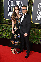 Christian Slater & Brittany Lopez  at the 75th Annual Golden Globe Awards at the Beverly Hilton Hotel, Beverly Hills, USA 07 Jan. 2018<br /> Picture: Paul Smith/Featureflash/SilverHub 0208 004 5359 sales@silverhubmedia.com