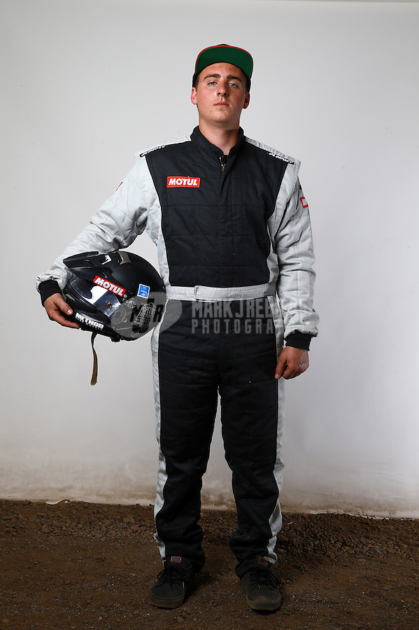 Mar. 21, 2014; Chandler, AZ, USA; LOORRS pro buggy driver Brandon Blyth poses for a portrait prior to round one at Wild Horse Motorsports Park. Mandatory Credit: Mark J. Rebilas-USA TODAY Sports