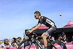 Sam Bennett (IRL) Bora-Hansgrohe at sign on before Stage 1 of the 100th edition of the Giro d'Italia 2017, running 206km from Alghero to Olbia, Sardinia, Italy. 4th May 2017.<br /> Picture: Ann Clarke | Cyclefile<br /> <br /> <br /> All photos usage must carry mandatory copyright credit (&copy; Cyclefile | Ann Clarke)