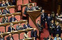 Roma, 2 Ottobre 2013<br /> Senato <br /> Silvio Berlusconi entra in aula  durante l'intervento del Primo  Ministro Enrico Letta