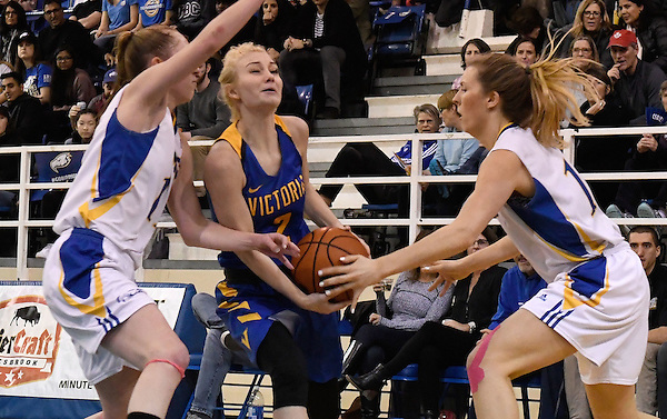 VANCOUVER,BC:NOVEMBER 26, 2016 -- UBC Thunderbirds University of Victoria Vikes during U Sports Canada West women's basketball action at UBC in Vancouver, BC, November, 26, 2016. (Rich Lam/UBC Athletics Photo) <br /> <br /> ***MANDATORY CREDIT***
