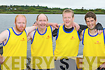 The pride of the parish: Callinafercy heroes l-r: Pat Murphy, JJ Murphy, David Lynch and Peter Moriarty who won the Intermediate mens race at their home regatta on Sunday..