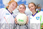 FUN: Learning the skills at the VHI GAA Cu?l Camp in Duagh last Friday were, l-r: Timara Kirby, Chloe Hoare, Jo Jo Lyons.