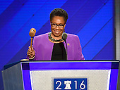 United States Representative Marcia Fudge (Democrat of Ohio) calls the second session of the 2016 Democratic National Convention to order at the Wells Fargo Center in Philadelphia, Pennsylvania on Tuesday, July 26, 2016.<br /> Credit: Ron Sachs / CNP<br /> (RESTRICTION: NO New York or New Jersey Newspapers or newspapers within a 75 mile radius of New York City)