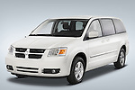 Driver side front three quarter view of a 2008 Dodge Caravan