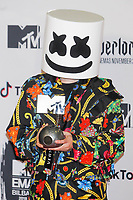 BILBAO, SPAIN-November 04: Marshmellow in the press room during the EMA 2018 at BEC (Bilbao Exhibition Center) in Bilbao, Spain on the 4 of November of 2018 November04, 2018.  ***NO SPAIN***<br /> CAP/MPI/RJO<br /> &copy;RJO/MPI/Capital Pictures