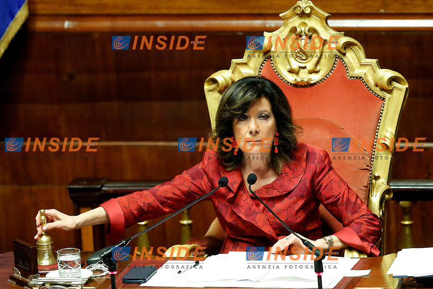 President of Senate Elisabetta Alberti Casellati<br /> Rome March 19th 2019. Senate. Speech of the Italian Premier about the next European Council and about the economic agreements italy/China.<br /> Foto Samantha Zucchi Insidefoto