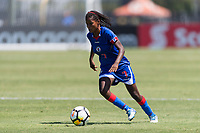 Bradenton, FL - Sunday, June 12, 2018: Abaina Louis prior to a U-17 Women's Championship 3rd place match between Canada and Haiti at IMG Academy. Canada defeated Haiti 2-1.