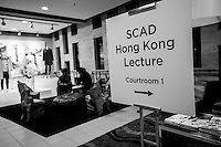 Todd Downey delivers a lecture on Sustainable Design at SCAD Hong Kong, October 2012. Photo by Xaume Olleros / illume visuals
