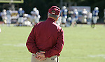 FSU coach Bobby Bowden watches as the Seminole defense stops the Duke Blue Devils from scoring  at the goal line in the fourth quarter of the Seminoles 51-24 defeat of the Blue Devils at Wallace Wade Stadium in Durham, North Carolina October 14, 2006.   (Mark Wallheiser/TallahasseeStock.com)