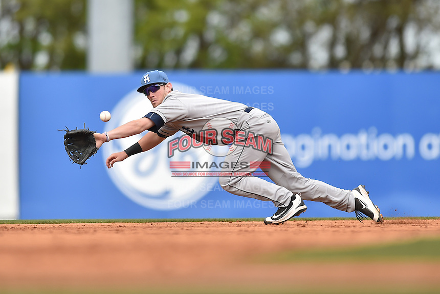 Asheville Tourists second baseman Brendan Rodgers (1) during a game against the  Greenville Drive at Fluor Field on April 10, 2016 in Greenville South Carolina. The Drive defeated the Tourists 7-4. (Tony Farlow/Four Seam Images)