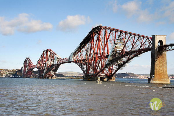 Forth Bridge. The Firth of Forth. Suburb of Edinburgh. Leith.