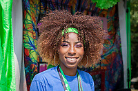 Cece, Beautiful African-American Woman at Hempfest Seattle, WA, USA.