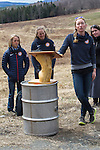 EAST MONTPELIER - USA Vermont Olympians speak at Morse Farm about the influence of climate change on winter sports they have experienced world wide and make suggestions on attacking the problem. Speaking, Hannah Dreissigacker,  L/R Liz Stephens,Susan Dunklee.