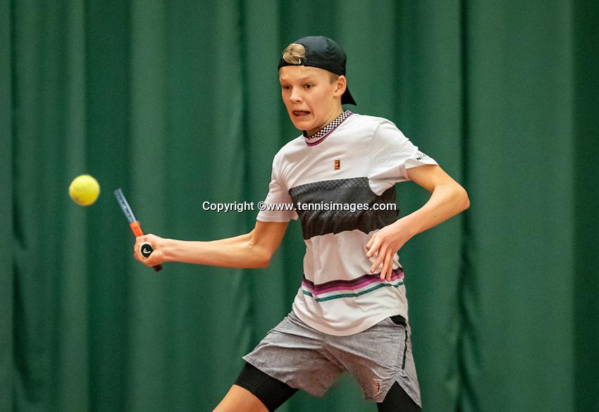 Wateringen, The Netherlands, December 8,  2019, De Rhijenhof , NOJK juniors 14 and18 years, Finals boys 14 years: Abel Forger (NED)<br /> Photo: www.tennisimages.com/Henk Koster