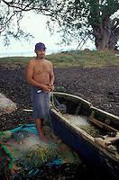 Fisherman on Isla de Ometepe, Nicaragua