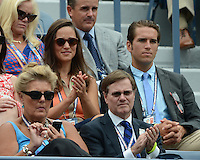 FLUSHING NY- SEPTEMBER 4: Pippa Middleton and Spencer Vegosen are sighted watching Azarenka Vs Stosur on Armstrong stadium at the USTA Billie Jean King National Tennis Center on September 4, 2012 in Flushing Queens.  Credit: mpi04/MediaPunch INc. ***NO NY NEWSPAPERS*** /NortePhoto.com<br />
