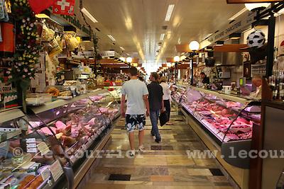 Genève, le 04.08.2010.La halle de rive..© Le Courrier / J.-P. Di Silvestro