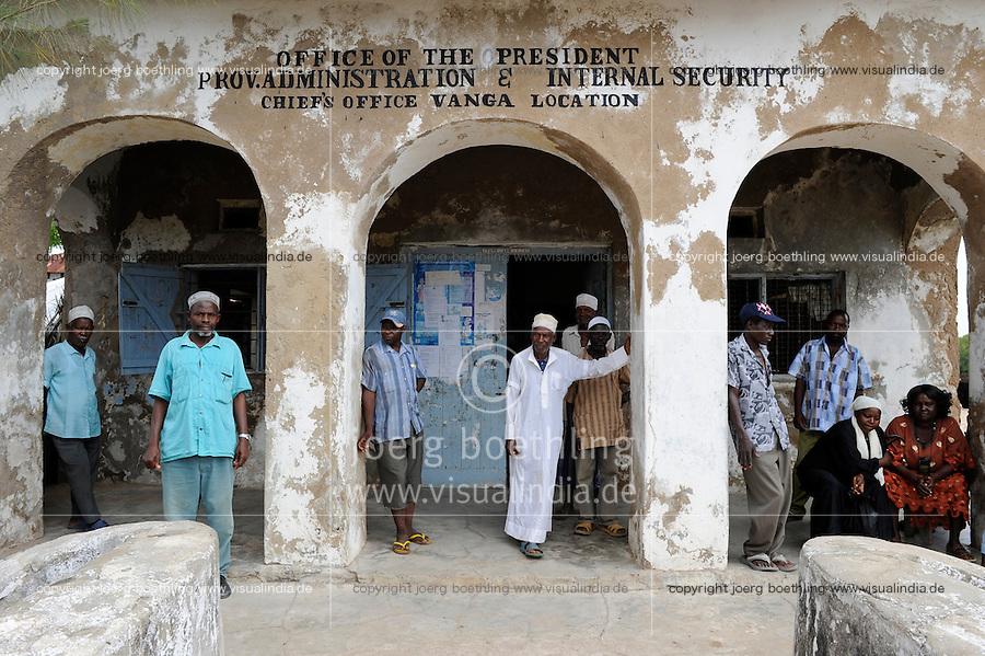 Kenya Mombasa, administration office in fishing village Vanga