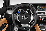 Car pictures of steering wheel view of a 2014 Lexus GS 300H Hybrid F Sport Line 4 Door Sedan 2WD Steering Wheel