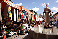 El Parian handicrafts market in the city of Puebla, Mexico