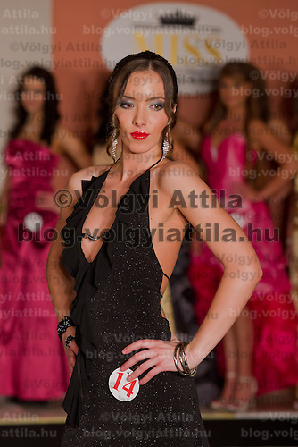 Barbara Godo participates the Miss Hungary beauty contest held in Budapest, Hungary on December 29, 2011. ATTILA VOLGYI
