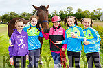 Giving pony rides at the Treashing for Cancer in Beaufort on Sunday were l-r: Mary Elen McDonnell, Clodagh O'Shea Glencar,  Kayleigh Casey Castlecove, Lory O'Connor and Lily Field Beaufort