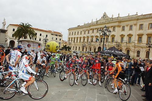 2010, Classica Sarda Cycling in Sardegna Italy, Radioshack, Feb 28, Sassari..Photo: Sirotti/Actionplus. Editorial Use.