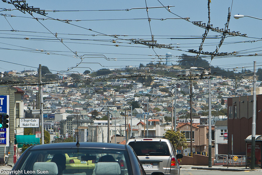 A hilly residential area in SFO