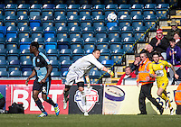 Goalkeeper Benjamin Siegrist of Wycombe Wanderers during the Sky Bet League 2 match between Wycombe Wanderers and Accrington Stanley at Adams Park, High Wycombe, England on the 30th April 2016. Photo by Liam McAvoy / PRiME Media Images.