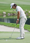 August 4, 2012:  Richard H. Lee from Scottsdale, AZ putts on the 6th green during the third round of the 2012 Reno-Tahoe Open Golf Tournament at Montreux Golf & Country Club in Reno, Nevada.