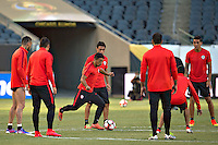 Action photo during training the selection of Chile before the game against Colombia corresponding to the semifinals of the America Cup centenary 2016, at Soldier Field Stadium.<br /> <br /> Foto de accion durante el Entrenamiento de la Seleccion de Chile previo al partido contra Colombia correspondiente a la Semifinales de la Copa America Centenario 2016, en el Estadio Soldier Field, en la foto: Chile<br /> <br /> <br /> 21/06/2016/MEXSPORT/Jorge Martinez