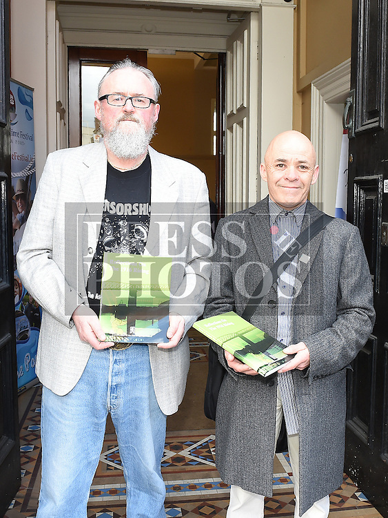 Author Anthony McEntyre with Brendan Matthews at the launch of the book Refelections on the 1916 Rising held in the Tholsel. Photo:Colin Bell/pressphotos.ie