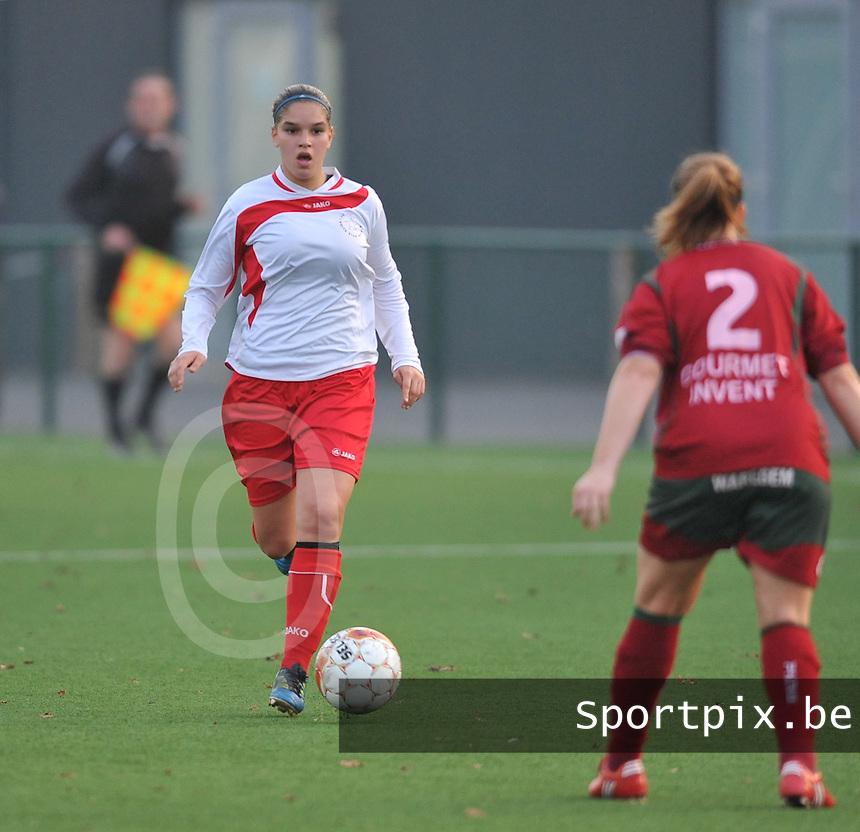 Dames Zulte - Waregem - Femina White Star Woluwe : Anais Renier.foto DAVID CATRY / Vrouwenteam.be