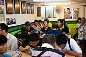 Customers share a light moment at Penang's famous Teo Chew Chendol restaurant in Georgetown of Penang, Malaysia. Photo: Sanjit Das/Panos